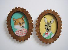 Anstecker - enna Bilderrahmen-Brosche aus Holz - ein Designerstück von enna bei DaWanda