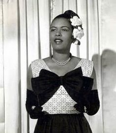 Billie Holiday the flower lady