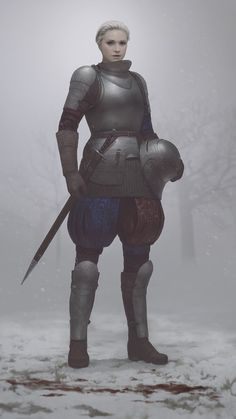 Young Brienne by Arthur-Panshi.deviantart.com on @DeviantArt She looks striking in her armour!