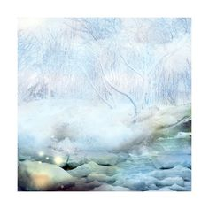 Peaceful Winter ❤ liked on Polyvore featuring backgrounds, winter, inverno, natale and snow