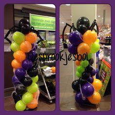 Halloween@AH de tuinfluiter in Bunschoten. Ballonnen decoratie de versierders van de Sprookjesbol  Bunschoten Spakenburg