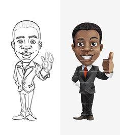 African American Cartoon Character - http://tooncharacters.com/male-cartoon-characters/african-american-cartoon-character/