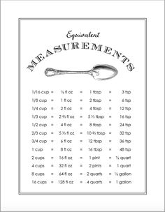 Post these free printables in the kitchen for easy reference: a cooking measures equivalency chart, healthful snack ideas, and our menu planning template. Baking Conversion Chart, Measurement Conversion Chart, Cooking For Beginners, Cooking Tips, Cooking Icon, Baby Cooking, Cooking Lamb, Cooking Recipes, Kitchen Cheat Sheets