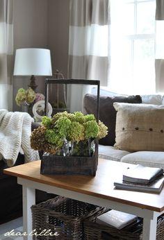 Dear Lillie: Jamie and Josh's New Den Home Living Room, Living Room Decor, Family Room Colors, Family Rooms, Dear Lillie, Living Room Arrangements, Sweet Home, House Design, Interior Design