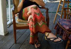 Ripple Afghan Pants...cool idea!