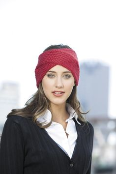 Knit Slouchy Beanies & Headwraps - Trendy fashions! Quick gifts! These stylish beanies and headwraps knit up in a weekend or less and add extra warmth and excitement to cool-weather wardrobes. Make a Newsboy Beanie with a knitted brim, or a Cable Headwrap that secures with a button. Create a chic Twisty Cables Beanie or an elegant  Split Headwrap. If you like your knitting to be very simple yet still look amazing, the Basic Beanie is your perfect pattern. The designs fit adult sizes ...