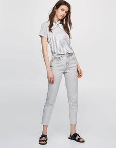 Mom fit jeans - Jeans - Denim - HIDDEN - PULL&BEAR Bahrain