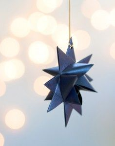 Froebel Star Garland from My Own Ideas blog #christmas #holiday #craft