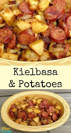 kielbasa and potatoes - easy Kielbasa recipeYou can find Kielbasa recipes and more on our website.kielbasa and potatoes - easy Kielbasa recipe Easy Kielbasa Recipes, Smoked Sausage Recipes, Easy Potato Recipes, Pork Recipes, Cooker Recipes, Healthy Recipes, Polish Sausage Recipes, Kilbasa Sausage Recipes, Polish Keilbasa Recipes
