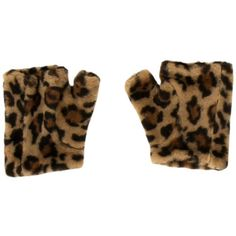 Pre-owned Miu Miu Fur Leopard Print Gloves ($95) ❤ liked on Polyvore featuring accessories, gloves, animal print, miu miu, leopard fingerless gloves, fur gloves, brown fingerless gloves and brown gloves