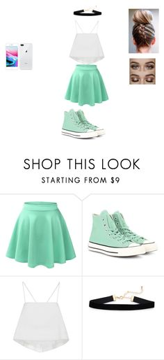 """School Outfits"" by jennixv on Polyvore featuring LE3NO, Converse and A.L.C."