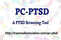 PC-PTSD - A PTSD screening tool used by the VA, try it on http://traumadissociation.com/pc-ptsd