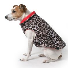 Red Leopard Reversible Puffer Dog Vest