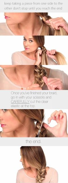 Brunette Plait Hairstyle