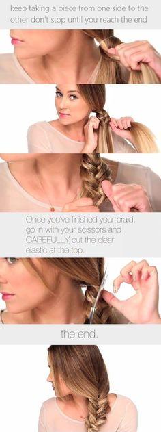 Brunette Plait Hairstyle