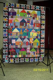 This quilt, made by Freddy and quilted by Kathy Sandbach, xxx