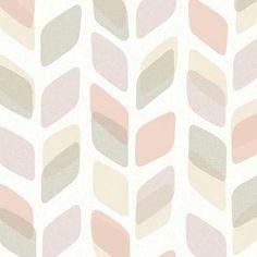 Galerie Wallpaper Deco4Walls | Unplugged Geometric Leaf Blush | UN3004 – WonderWall by Nobletts