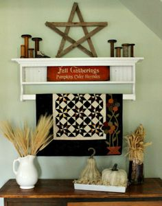 cornbread and beans blog 018 Quilt Display, Fall Quilts, Amish Quilts, Wooden Stars, My Themes, Happy Weekend, Autumn Inspiration, Craft Fairs, Quilting Projects