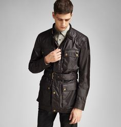 <p>First introduced in 1981, the Roadmaster is one of the most iconic Belstaff jackets of all time. Modelled on the original four-pocket design of the legendary Trialmaster, this modernised edition has a closer, more streamlined fit. Crafted in cambric cotton sourced from a historical British mill, its waxed finish has been developed since the 1800s to be innovatively breathable and waterproof, but be sure to re-wax regularly to keep the shine.</p><br/><p>This jacket is true to size, which…