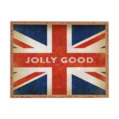 Anderson Design Group Jolly Good British Flag Rectangular Tray | DENY Designs Home Accessories