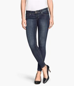 Check this out! 5-pocket, ultra low-rise jeans in washed stretch denim with ultra-slim legs. - Visit hm.com to see more.