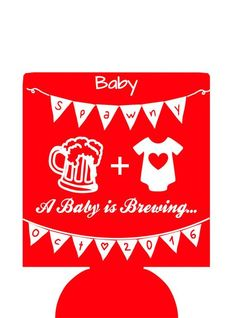 A baby is brewing Baby Shower Can Coolers