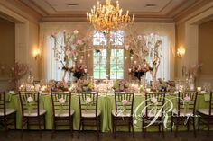 Flowery and sparkly decor for an enchanting fairy tale wedding reception #fairytale #wedding
