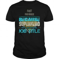 Awesome Tee FAST FOOD WORKER T shirts