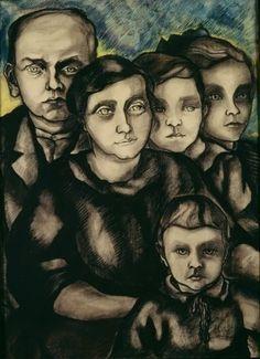 Charley Toorop (1891-1955) was een Nederlandse schilder en lithograaf. Zij maakte vanaf 1916 deel uit van de kunstenaarsgroep Het Signaal, die een diepe beleving van de werkelijkheid voorstond door kleuren en lijnen zwaar aan te zetten en felle kleurcontrasten aan te brengen. Ze wordt mede daarom ook wel gerekend tot de Bergense School. Vanaf de jaren 30 schilderde ze veel vrouwenfiguren, ook naakten en zelfportretten in een krachtige, realistische stijl -1921 familie Klomp
