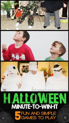 If you are looking for some great Halloween Games these minute to win it games are intense and so much fun!!!