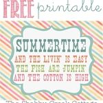The Shabby Creek Cottage | Decorating | Craft Ideas | DIY: Free Summertime Printable Artwork