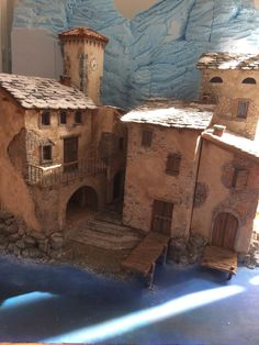 Gilbert et Anthony MACCIOCU Santonniers créchiste… – - Happy Christmas - Noel 2020 ideas-Happy New Year-Christmas Nativity House, Nativity Stable, Christmas Nativity Scene, Miniature Crafts, Miniature Houses, Paper Origami Flowers, Isometric Art, Medieval Houses, Clay Houses