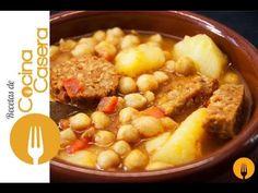 Garbanzos con chorizo | Recetas de Cocina Casera - Recetas fáciles y sencillas