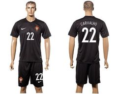 Portugal #22 Carvalho SEC Away Soccer Country Jersey Authentic Stitched China Store Wholesale
