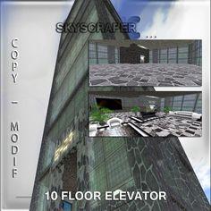 Building with elevator 10 floor copy modify