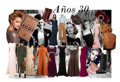 """""""Años 30"""" by stacey-liz on Polyvore featuring moda, Max Factor, Missguided, Rochas, Claire McCardell, Jessica McClintock, Yohji Yamamoto, STELLA McCARTNEY, Rachel Gilbert y Christian Louboutin"""