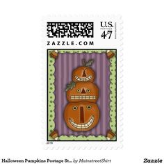 Halloween Pumpkins Postage Stamps