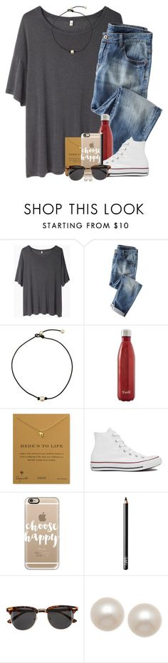 """""""here's to life ☺️"""" by ellapearlrose ❤ liked on Polyvore featuring R13, Wrap, S'well, Dogeared, Converse, Casetify, NARS Cosmetics, H&M and Honora"""