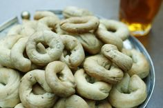 Kaak anise cookies 2 t baking powder 3/4 c sugar a pinch of salt 2 large eggs juice of half a lemon 2 T milk powder pinch of mahlab (optional) 2 T anise seeds 1 T ground anise seeds 1 c of vegetable oil 2 1/2 c all-purpose flour