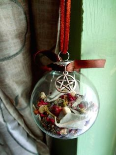 witchy yule tree ornament