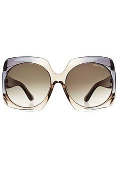 The directional drama of these Tom Ford sunglasses is tempered by the transparent frame. We love them as an effortless way of adding statement to simple looks #Stylebop