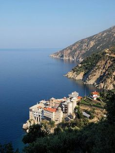 At Mount Athos in Greece. Cyprus Island, Greece Pictures, Greek Isles, Greece Islands, European Countries, Macedonia, Adventure Is Out There, World Heritage Sites, The Places Youll Go