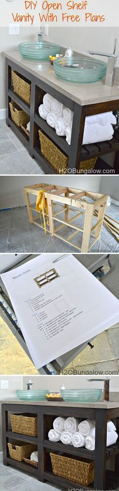Check out the tutorial how to make a DIY open shelf vanity @istandarddesign
