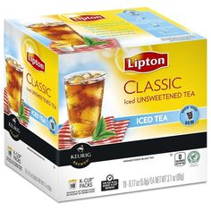Lipton Tea K Cups Unsweetened Iced Tea, 18 Count TEJ ** To view further for this item, visit the image link. (This is an affiliate link and I receive a commission for the sales) Lipton Ice Tea, Brewing Tea, K Cups, Iced Tea, Keurig, Healthy Drinks, Count, Image Link, Food