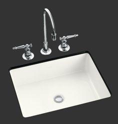 KOHLER Ladena White Undermount Rectangular Bathroom Sink with ...