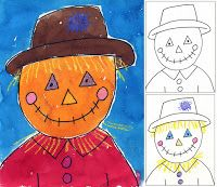 Art Projects for Kids: fall      Draw, trace with Sharpie, water color