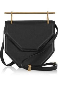 Black leather (Calf) Snap-fastening front flap  Made in Spain