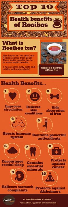 One of the best drinks for health - rooiboos tea. Here are the health benefits-of-rooibos: