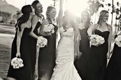 Love this photo of our bride with her girls. Stunning. Check out our site to book your complementary consult: www.psplans.com