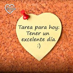 ¡#Buenosdías! Que no se os olvide cumplir esta tarea. ¡Feliz jueves! #frases #motivacion